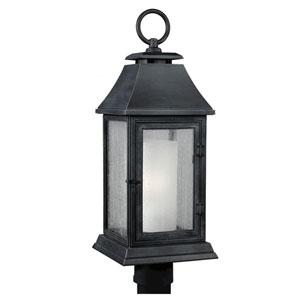 Weston Dark Weathered Zinc One-Light Outdoor Post Mount