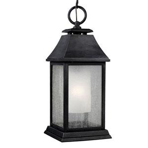 Weston Dark Weathered Zinc One-Light Outdoor Pendant