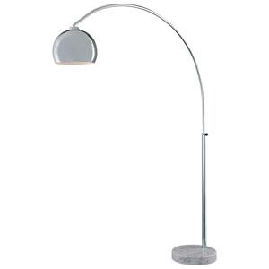 Nova Chrome One-Light Arc Floor Lamp