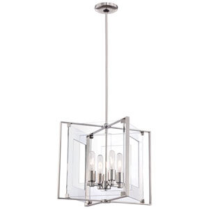Halifax Polished Nickel Four-Light Pendant