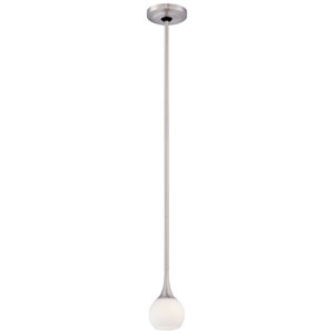 Apollo Brushed Nickel One-Light Mini-Pendant