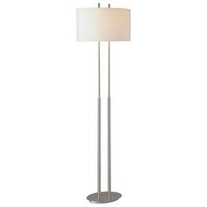 Callie Brushed Nickel Floor Lamp