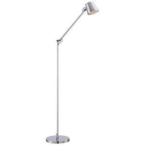 Rocco Chrome Eight-Inch LED Floor Lamp