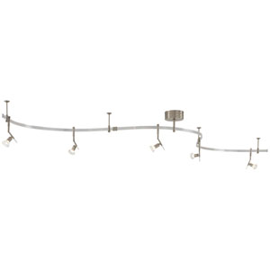 Nile Brushed Nickel Five-Light Monorail Track Light