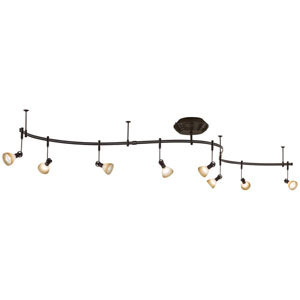 Nile Bronze Eight-Light Monorail Track Light