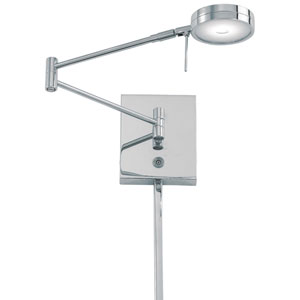 Apothecary Chrome LED Swing Arm Wall Lamp