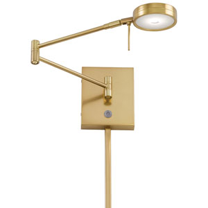 Apothecary Gold LED Swing Arm Wall Lamp