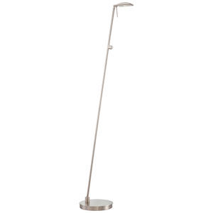 Apothecary Brushed Nickel LED Floor Lamp
