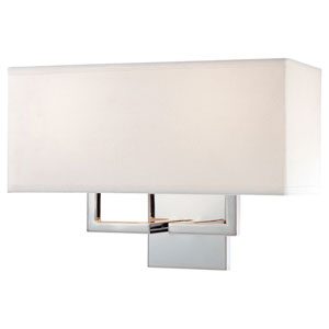 Etta Chrome Two-Light Wall Sconce