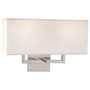 Etta Brushed Nickel Two-Light Wall Sconce