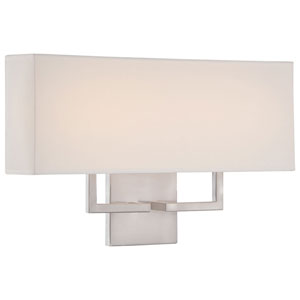 Etta Brushed Nickel 17-Inch LED Wall Sconce