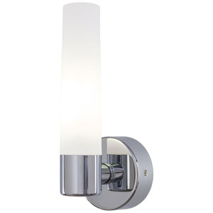 Stella Brushed Chrome One-Light Bath Sconce