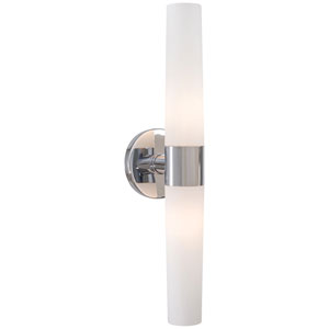 Stella Brushed Chrome Two-Light Vanity