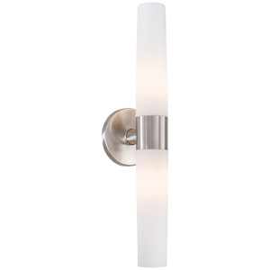 Stella Brushed Stainless Steel Two-Light Vanity