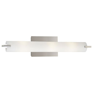 Echo Brushed Chrome Three-Light Vanity