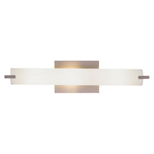 Echo Brushed Nickel Three-Light Vanity