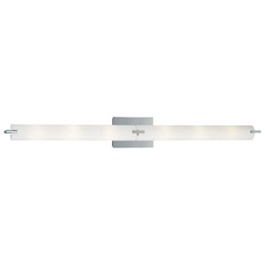 Echo Brushed Chrome Halogen Six-Light Vanity