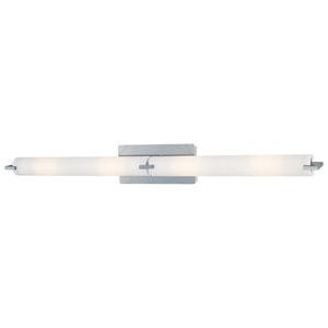 Echo Brushed Chrome Six-Light Vanity