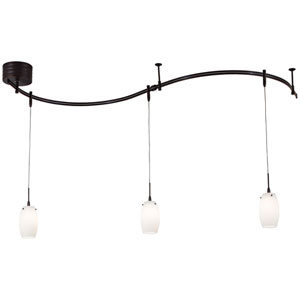 Nile Bronze Three-Light Mini-Pendant Monorail Track Light