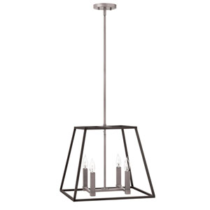 Eastbrook Brushed Zinc 18-Inch Four-Light Pendant