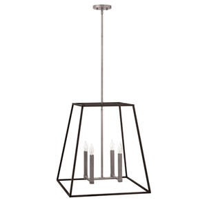 Eastbrook Brushed Zinc 22-Inch Four-Light Pendant