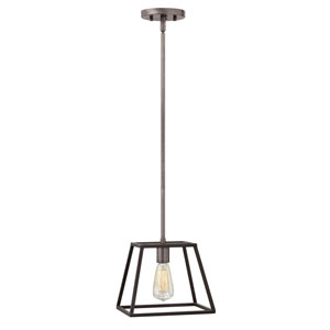 Eastbrook Brushed Zinc Nine-Inch One-Light Mini-Pendant