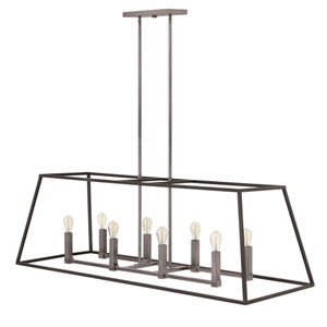 Eastbrook Brushed Zinc Eight-Light Island Pendant