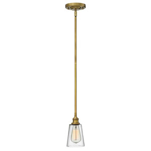 Ellsworth Brass One-Light Mini-Pendant