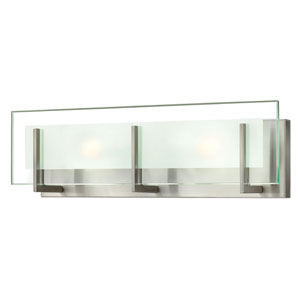 Lyon Brushed Nickel 18-Inch Two-Light Vanity
