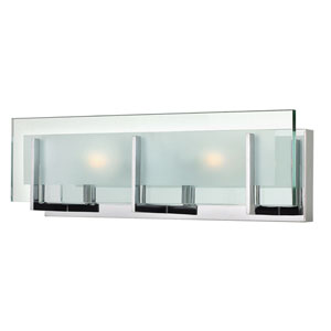 Lyon Chrome 18-Inch Two-Light Vanity