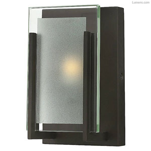 Lyon Rubbed Bronze Five-Inch LED Bath Sconce
