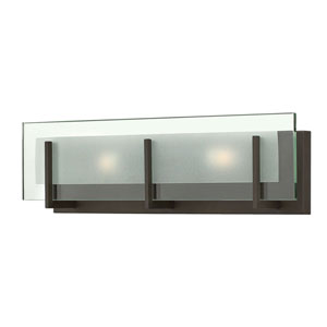 Lyon Rubbed Bronze 18-Inch LED Vanity