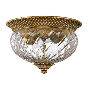 Fleur Brass Two-Light Flush Mount