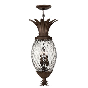 Fleur Copper Bronze Four-Light Outdoor Pendant