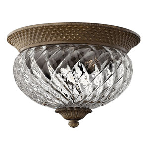 Fleur Pearl Bronze Two-Light Flush Mount