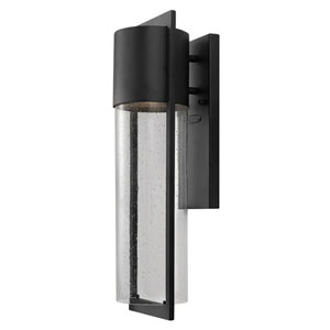 Brixton Black Six-Inch LED Outdoor Wall Mount
