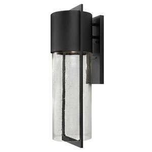 Brixton Black Eight-Inch One-Light Outdoor Wall Mount