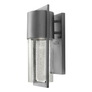 Brixton Graphite 15-Inch One-Light Outdoor Wall Mount