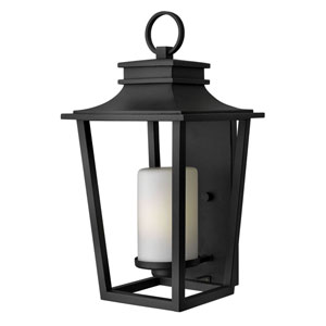 Glenview Black 23-Inch One-Light Outdoor Wall Mount