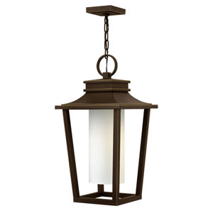 Glenview Rubbed Bronze 23-Inch One-Light Outdoor Pendant