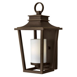 Glenview Rubbed Bronze 18-Inch LED Outdoor Wall Mount