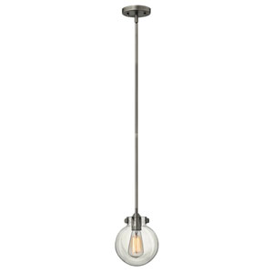Irving Antique Nickel Seven-Inch One-Light Mini-Pendant