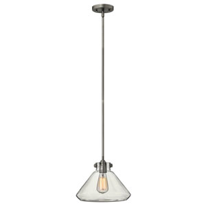 Irving Antique Nickel 12-Inch One-Light Pendant