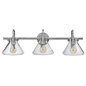 Irving Chrome Three-Light Vanity