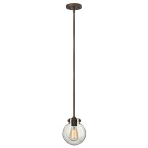Irving Rubbed Bronze Seven-Inch One-Light Mini-Pendant