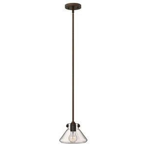 Irving Rubbed Bronze Eight-Inch One-Light Mini-Pendant