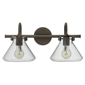 Irving Rubbed Bronze Two-Light Vanity