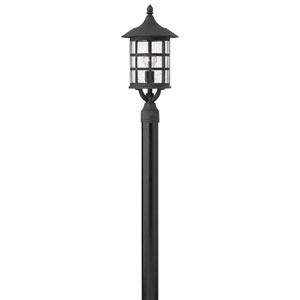 Hillgate Black 10-Inch One-Light Outdoor Post Mount