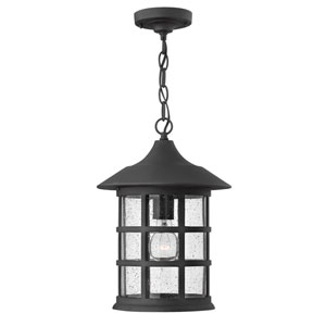 Hilldate Black One-Light Outdoor Pendant