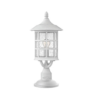 Hillgate White 18-Inch One-Light Outdoor Post Mount